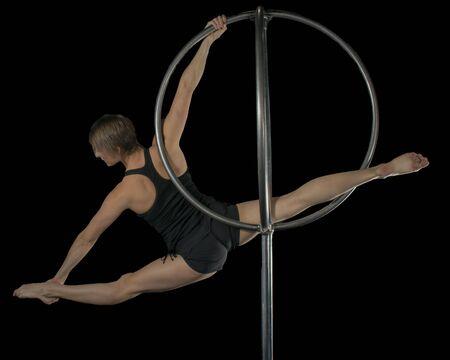 Girl on Circus Apparatus 版權商用圖片