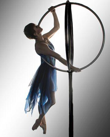 Girl on Circus Apparatus Banco de Imagens