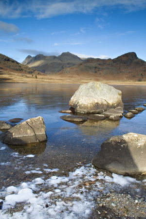 langdale pikes: Blea Tarn, Cumbria Stock Photo
