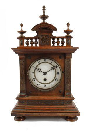 Antique Vintage Clock Pocket Watch on White Background Imagens