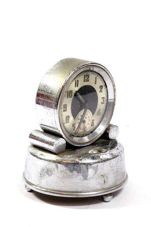 Antique Vintage Clock Pocket Watch on White Background