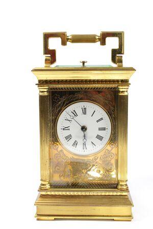 Antique Vintage Clock Pocket Watch on White Background Standard-Bild