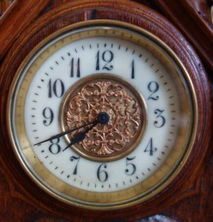 Clock Watch Timepice on White Background Vintage Antique