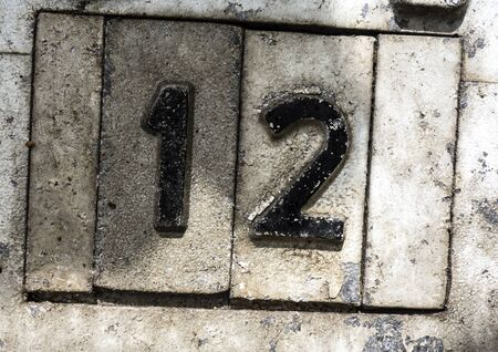 Written Wording in Distressed State Typography Found Number 12