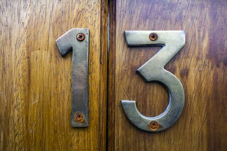 Written Wording in Distressed State Typography Found Number 13