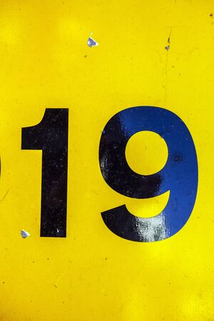 Written Wording in Distressed State Typography Found Number 19
