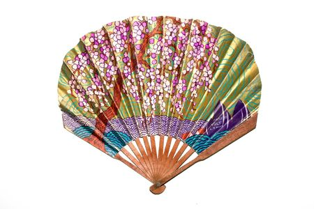 A Vintage Antique Hand Fan Ladies Accessory Archivio Fotografico