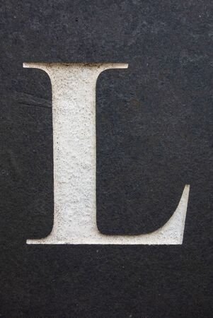 Written Wording in Distressed State Typography Found Letter L