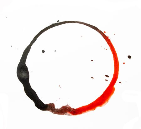 Coffee Cup Drink Stain On White Background