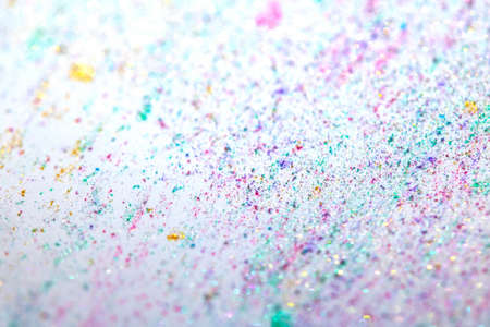 A Close Up of Mica Glitter with Bokeh For Background