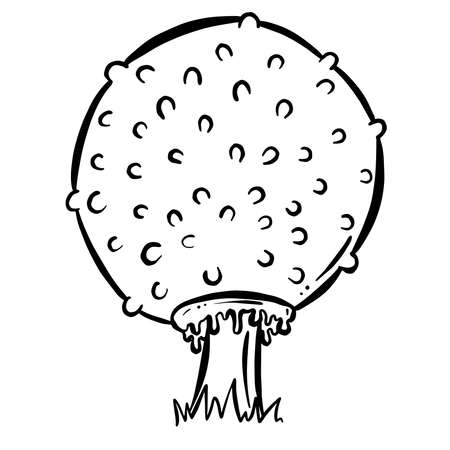 Fun Cartoon Mushroom Toadstool Character Vector Illustration