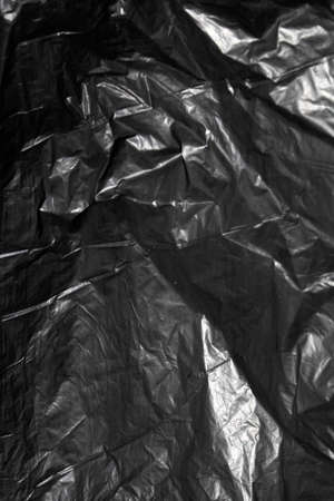 A Close Up of A Screwed Up Bin Bag Plastic Material