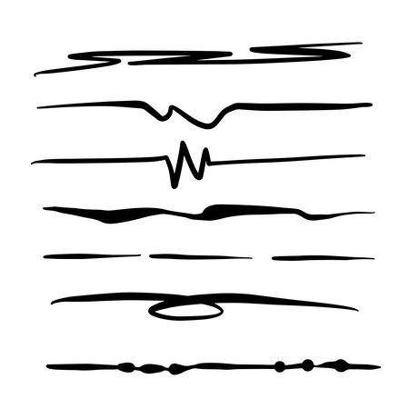 Kooky Black Lines Collection in Vector
