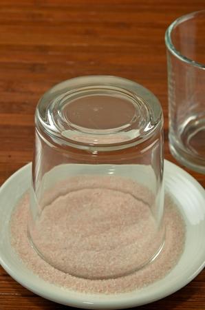 rimmed: Pink Sugar Rimmed Glass