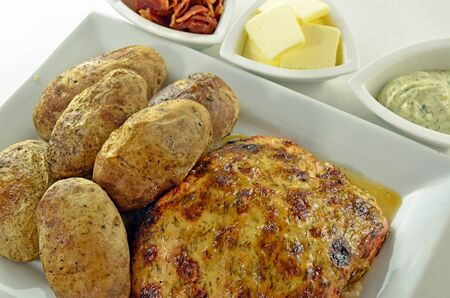 Gebakken Zalm En Aardappel Meal