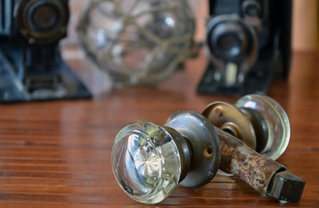 door knob: Vintage Glass Door Knob