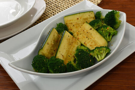 Broccoli And Zucchini With Herbs And Spices