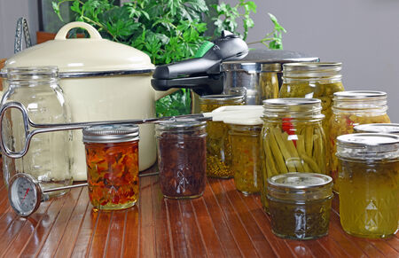 Home canning and preserving of fresh food
