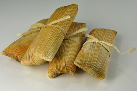 Tamales stuffed with beef and pork filling Stockfoto