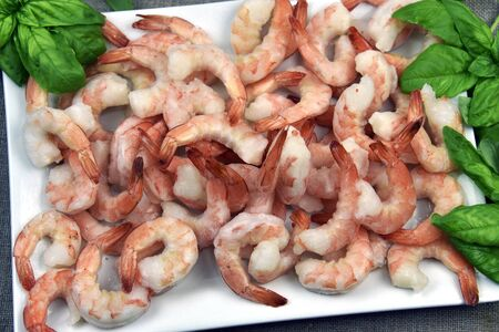 extra large: Fresh cooked extra large shrimp seafood