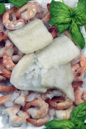 jumbo shrimp: True Alaskan Cod Fish With Jumbo Shrimp