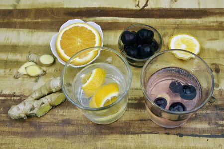 handcrafted: Fresh natural handcrafted black cherry, orange and ginger soda