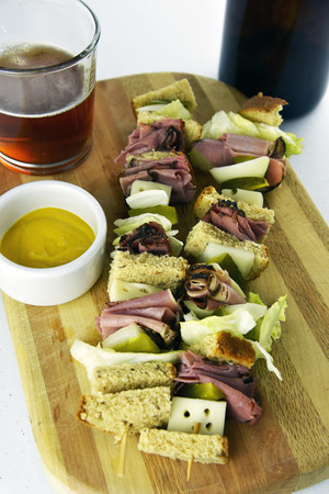 Craft Beer with Pastrami Appetizer