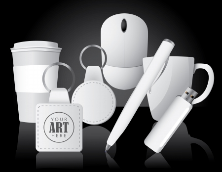 Promotional Business Items , grouped for easy editing No open shapes or paths