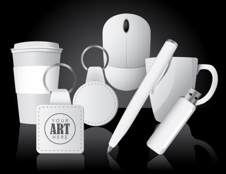 Werbeartikel Business Items, für die einfache Bearbeitung gruppiert keine offenen Formen oder Pfaden