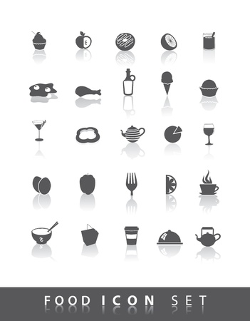 25 simple food icons Illustration