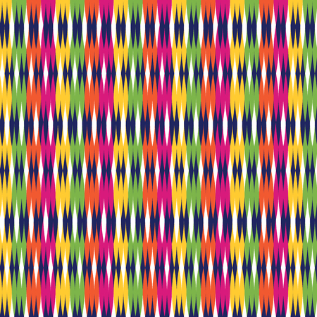 vector colorful traditional Thai style weaved mat pattern illustration