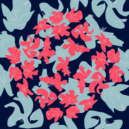 flowers colors of a living coral Pantone Standard-Bild - 125730709