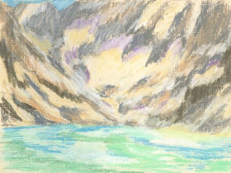 mountain landscape, lake in the mountains on the horizon Standard-Bild - 125432059