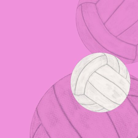 volleyball ball, abstract design templates Standard-Bild - 129294153