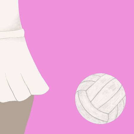 a volleyball, girl with a ball, design templates Zdjęcie Seryjne