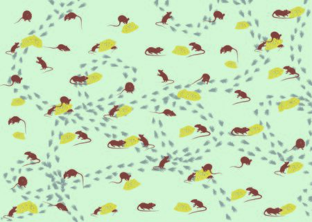 mouse and cheese pattern, new year 2020 background, wrapping paper pattern