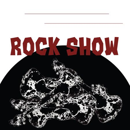 guitarist rock concert poster template, invitation Banque d'images - 138443393