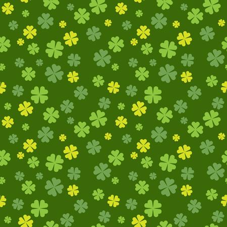 cloverleaf: Clover field seamless pattern for St. Patrick Day. Vector illustration