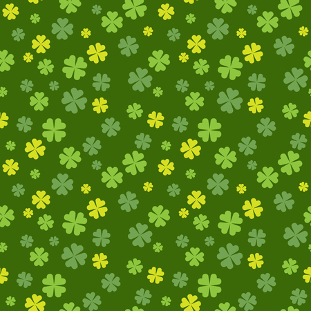 Clover field seamless pattern for St. Patrick Day. Vector illustration