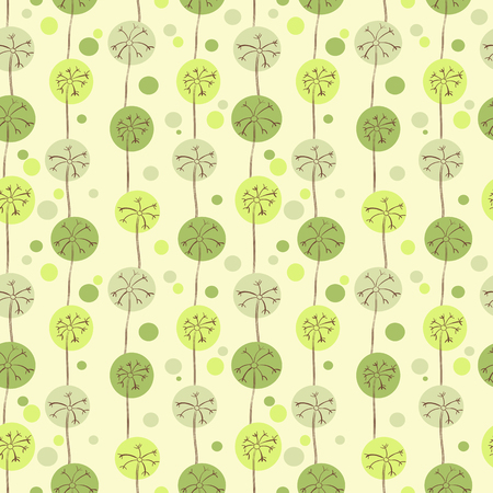Dandelions cute seamless pattern for design. Vector illustration
