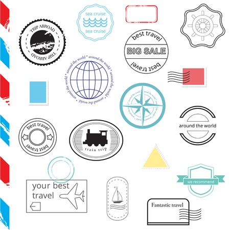 certificated: Vector Set of Stamps and Badges. Vector illustration EPS10 Illustration