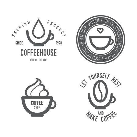 Coffee set Design elements illustration