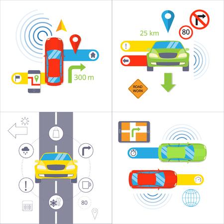 Car navigation. GPS navigation concept.