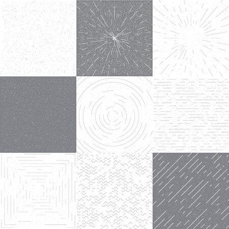 grange: Set of retro grange background for design Illustration