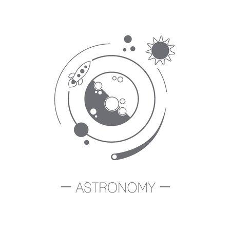 Astronomy icon Vettoriali
