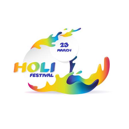 Holi spring festival vector logo