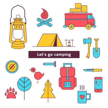 Camping Icon-set  Illustration