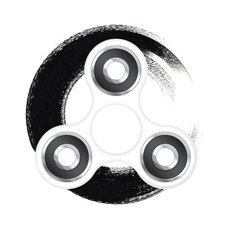 Fidget spinner with black abstract textured background