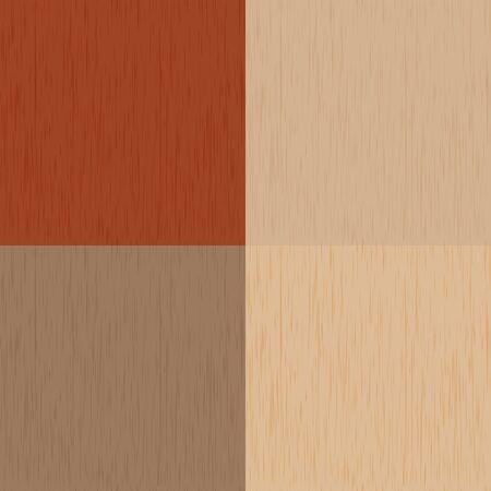 seamless wood: four kinds seamless wood texture   Stock Photo
