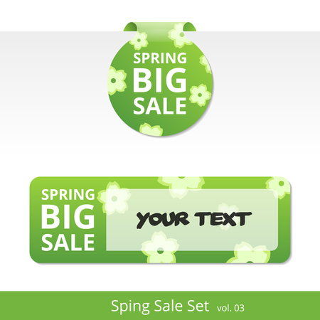 special price: Big spring sale set. label with a rope for promotions